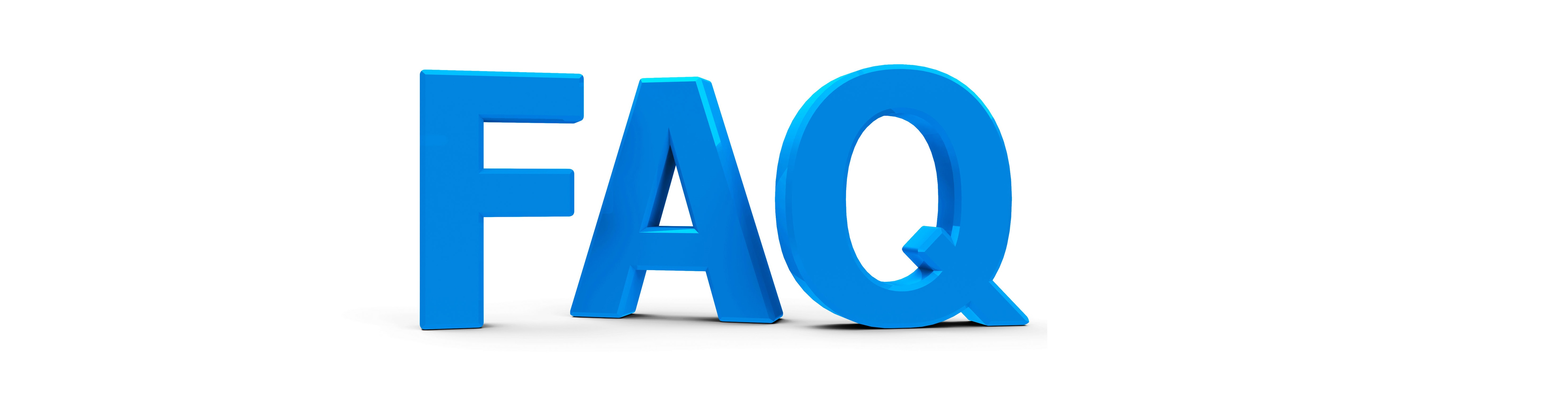 41255088 - blue faq symbol, icons or button isolated on white background, three-dimensional rendering